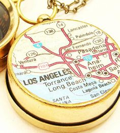 Map & Compass Necklace by Sora Designs on Scoutmob Shoppe