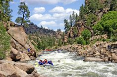 Aspen, Colorado's best whitewater rafting trips for you and your family. Aspen rafting trips from easy float trips to high adventure whitewater trips. Colorado River Rafting, Canyon Colorado, Salida Colorado, Colorado Springs, Breckenridge Ski Resort, Places To Travel, Places To Visit, Road Trip To Colorado, Float Trip