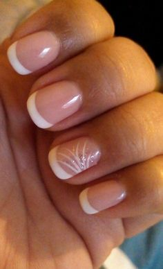 "Photo of Diamond Nails - ""gel french manicure"" - Philadelphia, PA French Nails, French Manicure Nails, Manicure And Pedicure, Pedicures, Summer French Manicure, French Summer, Love Nails, Fun Nails, Pretty Nails"