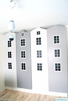 barnrum,husgarderober Kids Room Design, Interior Design Living Room, Boy Girl Room, Kidsroom, Kid Spaces, Kids Bedroom, Baby Room, Playroom, Room Decorations