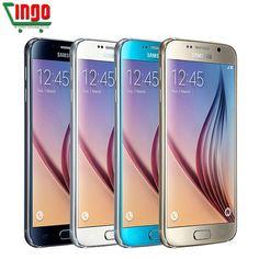 "Original Samsung Galaxy S6 Edge G925F Mobile Phone Octa Core 3GB RAM 32GB ROM LTE 16MP 5.1""inch Android 5.0 SmartPhone"