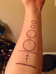 Minimal solar system tattoo
