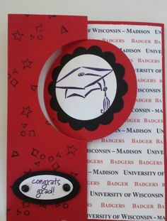 Graduation card made using Stampin Up's Circle Card Thinlits and Tassel Time stamp set