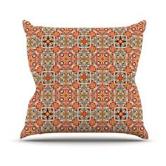 Kess InHouse Tropical Candy Rainbow Pillow Sham 40 x 20