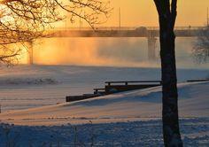 Pielis river, Joensuu, Finland Jan 15 2016