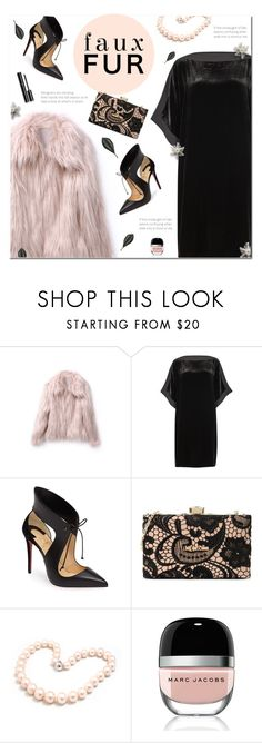 """""""Faux Fur Coats"""" by polly301 ❤ liked on Polyvore featuring Eileen Fisher, Christian Louboutin, Love Moschino, Hiho Silver, Marc Jacobs, Chanel and fauxfurcoats"""