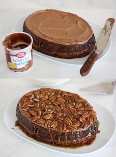 Slow Cooker Turtle Upside-Down Cake