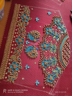 Aari Work Blouse, Hand Work Blouse Design, Simple Blouse Designs, Blouse Designs Silk, Bridal Blouse Designs, Embroidery Blouses, Embroidery Works, Hand Embroidery Designs, Vermicelli Recipes