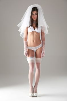 Little Caprice: Wedding #3 - Little Caprice is wearing a wedding dress. Who did she marry? Find out at Watch4beauty!