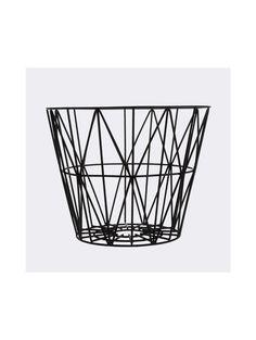 Sim Sleek Wire Basket, Black, $85-$125, Lulu & Georgia