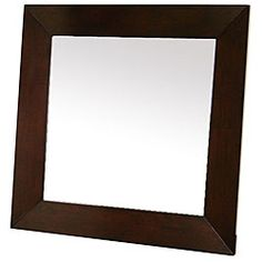 @Overstock.com - Doniea Dark Brown Wood-framed 31.5-inch Square Mirror - Accentuate your home or office with this beautiful wood-framed mirror. Perfect for any room or hallway, this solid rubberwood frame has a dark brown wood veneer finish that finishes this simplistic design. Fully assembled, this mirror is ready to hang.  http://www.overstock.com/Home-Garden/Doniea-Dark-Brown-Wood-framed-31.5-inch-Square-Mirror/5548999/product.html?CID=214117 $195.99