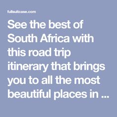 See the best of South Africa with this road trip itinerary that brings you to all the most beautiful places in just 2 weeks. Featuring Kruger NP, Panorama Route, Drakensbergen, Durban, the Garden Route, Cape Peninsula, Cape Town, and more. Includes a map and our practical tips for a self drive trip. Find out!