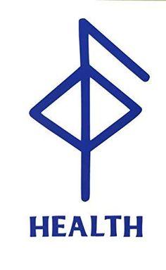 Viking Health Rune Vinyl Decal - Norse Bumper Sticker, for Laptops or Car Windows - Great Scandinavian or Icelandic Heritage Gift Viking Rune Tattoo, Norse Tattoo, Viking Tattoos, Armor Tattoo, Wiccan Tattoos, Inca Tattoo, Warrior Tattoos, Samoan Tattoo, Polynesian Tattoos