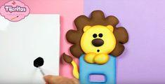 Cubre interruptor de goma eva con forma de león - Manualidades en Goma Eva y Foami Ice Tray, Silicone Molds, Cover, Manualidades, Jelly Beans, Xmas, Unicorn