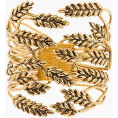 Aurlie Bidermann Gold Wheat Cuff ($625) ❤ liked on Polyvore featuring jewelry, bracelets, accessories, cuff, pulseiras, gold bracelet, cuff bangle, hinged cuff bracelet, cuff jewelry and cuff bangle bracelet