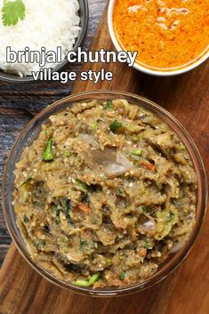 brinjal chutney recipe | vankaya pachadi | badanekayi chutney | kathirikai pachadi with step by step photo and video recipe. chutney or condiments are an essential part of indian cuisine and are made for various purpose. moreover, each region and state has its own way of preparing the chutney which differs with the way it is prepared and the set of ingredients. one such unique and flavoured chutney recipe is brinjal chutney recipe or vankaya pachadi known for its roasted and charcoaly… Tasty Vegetarian Recipes, Spicy Recipes, Cooking Recipes, Indian Veg Recipes, Indian Dessert Recipes, Puri Recipes, Veg Dishes, Biryani Recipe, Chutney Recipes