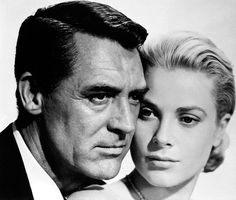 """Cary Grant y Grace Kelly para """"Atrapa un Ladrón"""" (To Catch a Thief), 1955 classiquehollywood:"""