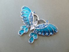 Teal/Blue Butterfly Magnet by MagnetMuse on Etsy