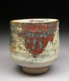 Yunomi Tea Cup Glazed with Shino Wood Ash