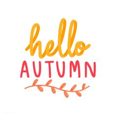 Hello autumn welcoming fall illustration | free image by rawpixel.com / Aum Calligraphy Welcome, Calligraphy Doodles, Autumn Illustration, Graphic Illustration, Autumn Bullet Journal, Welcome Images, Fall Images, Welcome Fall, Cute Backgrounds