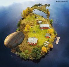 On the edge of the world #LuckCatchersMMO #airship #land #world