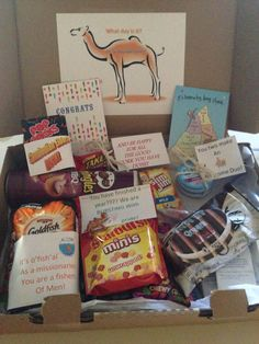 Such a cute and creative 1 year mark package for your missionary!