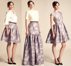 Courtesy Photos- Love the fabric for a floor-length formal skirt with a plain white blouse.
