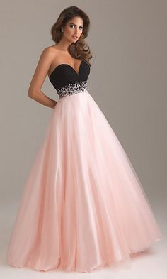 pink and black gown,