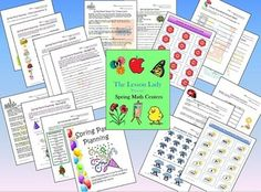 Spring Math Packet for Centers and Stations! Included are 10 centers and worksheets you can use in your classroom for grades 3-6. Available for purchase.