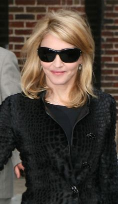 Madonnas shoulder length hairstyle
