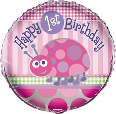Un alegre globo para una fiesta primer cumpleaños - de www.fiestafacil.com,/ A fun balloon for a first birthday party - from www.fiestafacil.com