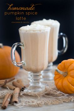 Homemade Pumpkin Spice Latte - chocolate & carrots