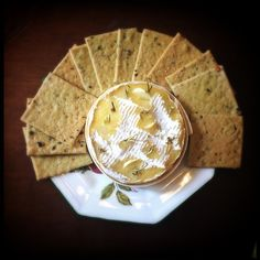 Camembert with garlic and rosemary Garlic, Bread, Cheese, Food, Brot, Essen, Baking, Meals, Breads