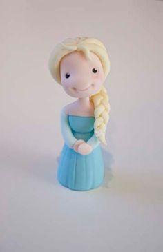 Little Cherry Cake Company Frozen Fondant Cake, Frozen Cake Topper, Fondant Cake Toppers, Fondant Figures, Frozen Cupcakes, Fondant Rose, Frozen Cake Tutorial, Cake Topper Tutorial, Fondant Tutorial