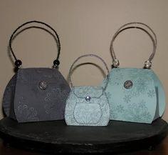 Sweet Little Handbag/Purse Boxes: Template & Printable Patterns - Splitcoaststampers