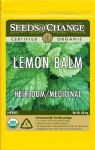 Seeds of Change S10698 Certified Organic Lemon Balm by Seeds of Change. $4.99. Free of GMO's (genetically modified organisms), chemicals and pesticides. Hermetically sealed package that is re-sealable gives longer life and higher germination rates. Independently tested for high germination rates and purity and meets or exceeds federal standards. 100-Percent certified organic seeds grown in the USA for over 20-year. Seeds of change contributes 1-percent of net sales to ...