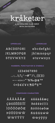 Slab Serif free font with Nordic vibes