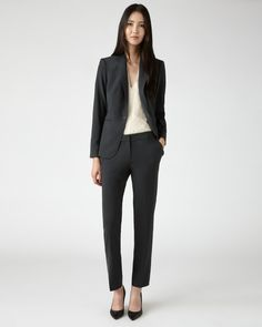 Jigsaw London Fit Gabardine Suit in Grey. Jacket £149 and Trousers £89.