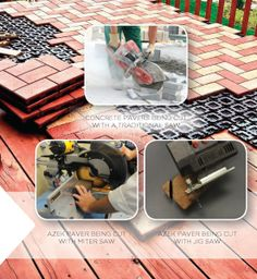 Easily install pavers over existing surfaces. www.builtabetterway.com