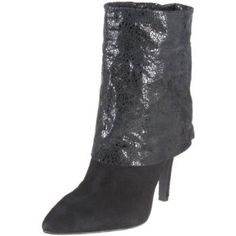 """BCBGENERATION Boots """"Earla"""" black suede mosaic cuffed boots with a heel • perfect condition • can be folded all the way down or just halfway/ whatever you prefer (adjustable) BCBGeneration Shoes"""