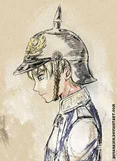 Axis Powers Hetalia : Little  soldier by YovanaYin.deviantart.com on @deviantART - Young Ludwig