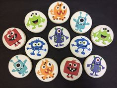 Monster  Cookie Favors for Birthdays, Monster Theme Cookies, Monsters Party Favors, Birthday Party Favors, Custom Cookies by ClawsonCookies on Etsy https://www.etsy.com/listing/539678855/monster-cookie-favors-for-birthdays