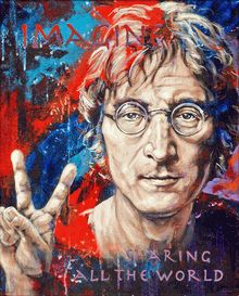 John Lennon Imagine original painting by Robert Hurst http://www.adamnfineartist.com/john-lennon-imagine-original-acrylic-painting-on-canvas.html#