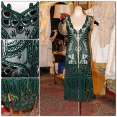 1920's Style Emerald Green Flapper ...