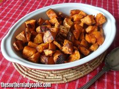 SPICY SWEET POTATOES - Healthy Recipe - The Southern Lady Cooks