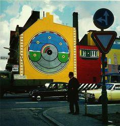 Wandmalerei am Grünspan, Hamburg 1968 von Werner Nöfer - Streetart – Wikipedia