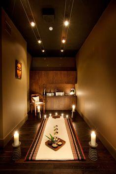 Salon Design for Gina Conway Lifestyle Salon & Spa in Wimbledon. Massage Room Decor, Massage Therapy Rooms, Spa Room Decor, Spa Design, Salon Design, Deco Spa, Ayurvedic Spa, Meditation Rooms, Spiritual Meditation