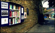 book lending - wales style Hay on Wye honesty book shop :)