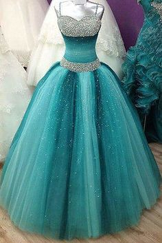 Prom Dresses For Teens, Spaghetti Straps Long Ball Gown Prom Dresses,Beading Sequin Shiny Prom Gowns,Quinceanera Dresses,Modest Prom Dress FOr Teens Short prom dresses and high-low prom dresses are a flirty and fun prom dress option. Long Prom Gowns, Ball Gowns Prom, Ball Dresses, Homecoming Dresses, Dress Prom, Gown Dress, Pageant Dresses, Wedding Dresses, Quince Dresses