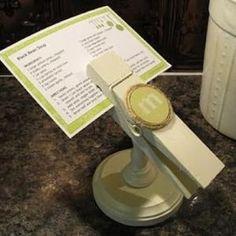 Recipe card holder tutoria by danielle